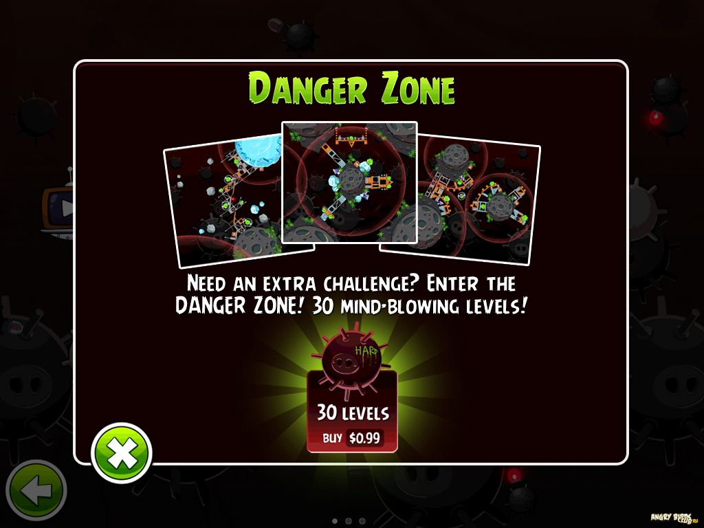 angry birds space danger zone apk
