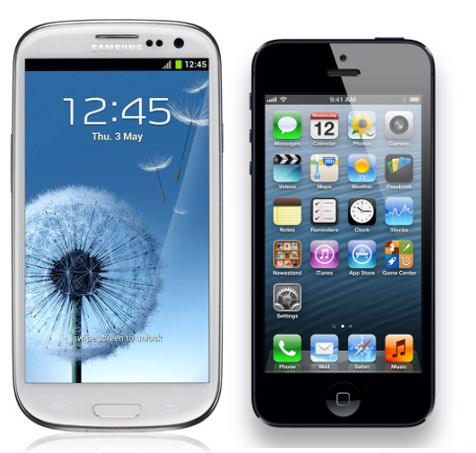 Samsung Galaxy S3 vs. iPhone 5