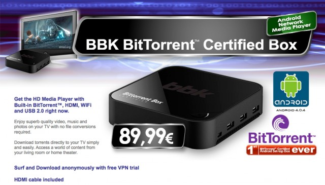 BBK BitTorrent Certified Box