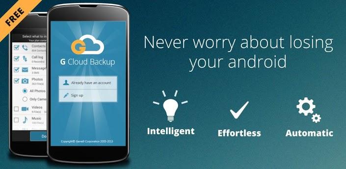 G Cloud Backup на отлично справится с созданием бэкапов для вашего Android устройства