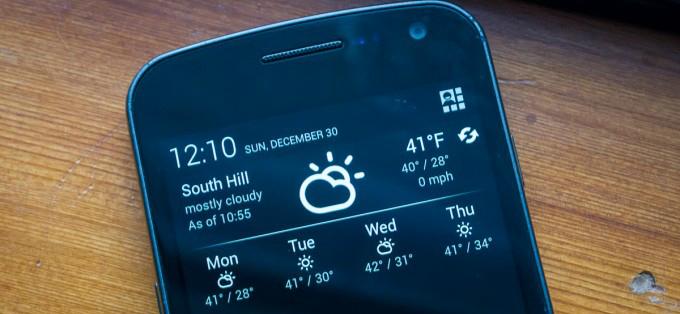 Notification Weather: пусть погода не застанет вас врасплох