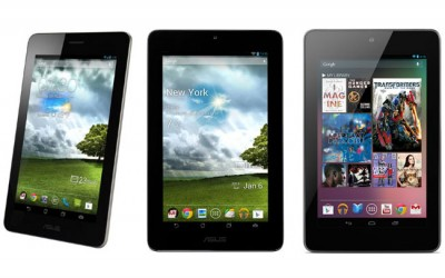 ASUS Fonepad vs Nexus 7 vs ASUS MemoPad