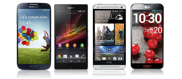 Galaxy S4 vs Sony Xperia Z vs HTC One vs Optimus G Pro
