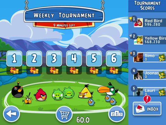 Игра Angry Birds Friends появится и на Android!