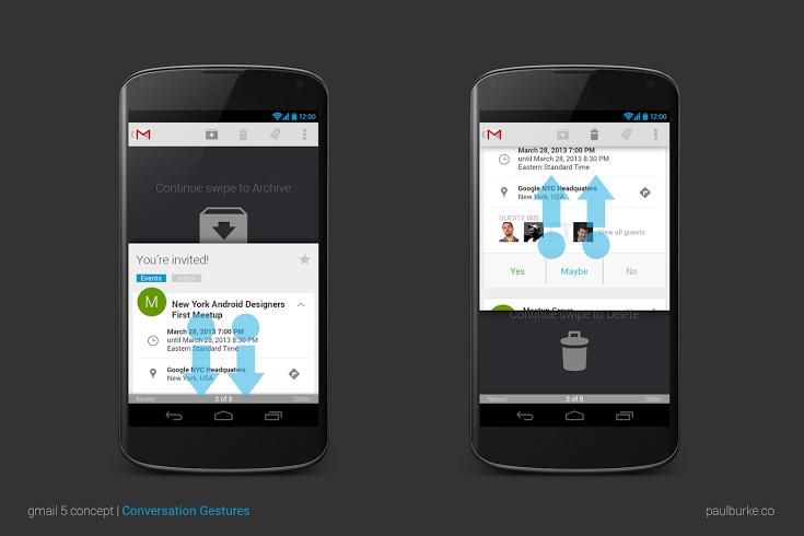GMail 5 для Android: красота, простота, удобство
