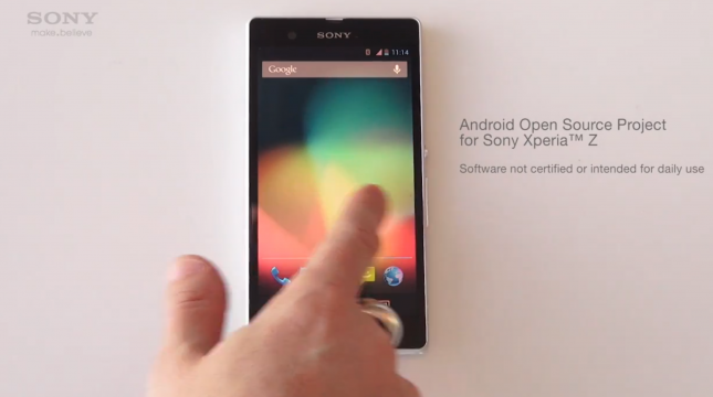 Sony выпустили Android 4.2 AOSP для Xperia Z