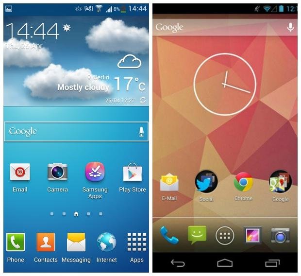 Сравниваем Touchwiz Nature UX 2.0 от Samsung со стоковым интерфейсом Android 4.2