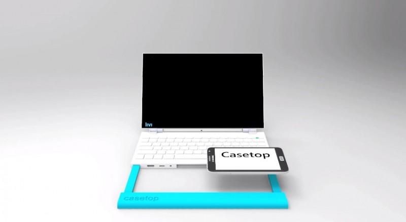 С каждым годом смартфоны становятся все более мощными, постепенно догоняя лэптопы. Наверняка вы тоже задумывались об этом, особенно, если слышали о ASUS Padfone - девайсе, который сочетает в себе телефон и компьютер. Так как он очень дорогой, то позволить его себе может далеко не каждый, но что если существует более дешевая альтернатива?  Ищущий поддержки на Kickstarter проект, представляет собой нечто совсем несложное. Casetop позволяет превращать Android, iOS и Blackberry 10 девайсы в лэптопы. Но в чем же секрет этого гаджета? Casetop состоит из нескольких элементов - это экран на 11,6 дюйма с высоким разрешением (пока только 720р, но ожидается увеличение до 1080р), клавиатура, два динамика, батарея на 56 ватт/часов и все присущие лэптопу подключения: HDMI, microUSB, мини джек и USB 2.0. Смартфон же закрепляется примерно там же, где находится тачпад на ноутбуке, выполняя не только функцию процессора, а и мышки.  Стоит отдельно отметить принцип, по которому работает батарея Кейстопа. По сути, она становится источником питания для самого смартфона, благодаря чему он постоянно подзаряжается. Это очень важно, ведь высокая портативность и компактность гаджета позволяют отказаться от использования лэптопа, а значит, вашему смартфону понадобится больше энергии для выполнения новых функций. А так как Casetop является девайсом кроссплатформенным, то при желании использовать его могут все ваши сотрудники и друзья. За развитием проекта на kickstarter.com можете следить здесь. Тут находится официальный сайт. Надеемся, что проект получит всю необходимую поддержку и выйдет на новый уровень.