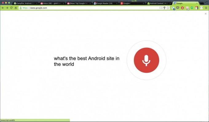 Chrome обзавелся голосовым поиском по типу Google Now