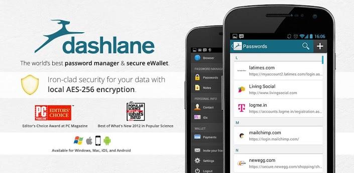 Dashlane - менеджер паролей для Android и ПК