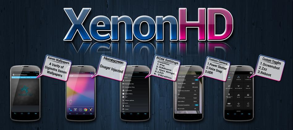 XenonHD – простой и понятный кастомный ROM для повышения производительности вашего девайса