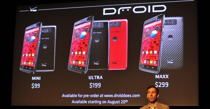 Droid Mini, Droid MAXX и Droid Ultra - три новых Дроида от Motorola