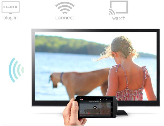 Google представили Chromecast - девайс, с которым вы получите доступ к YouTube и Google Play Music на своем телевизоре