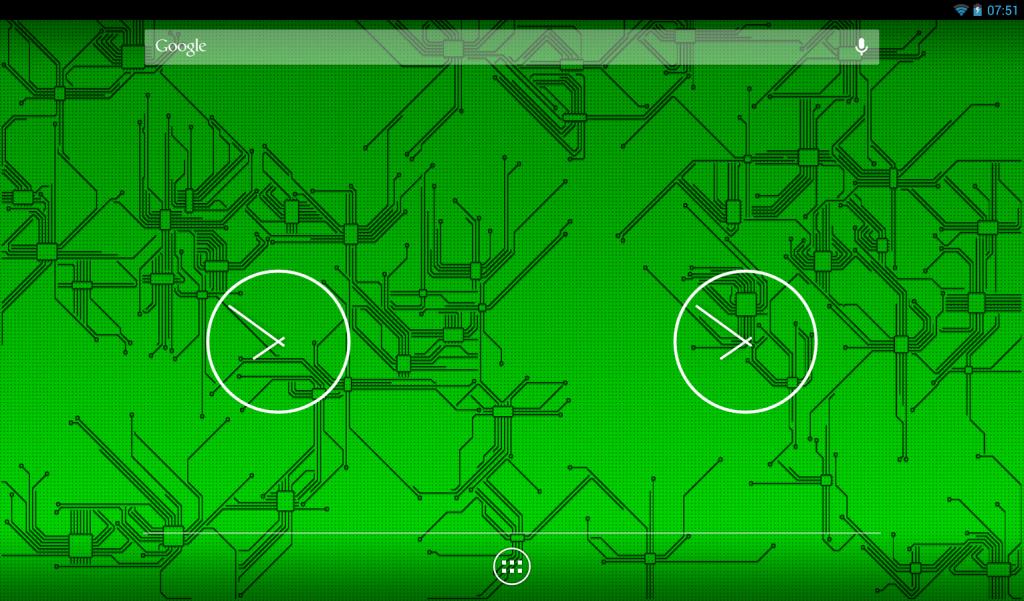 Живые обои Circuitry (Микросхемы) - печатные платы на хоумскрине Android девайса.