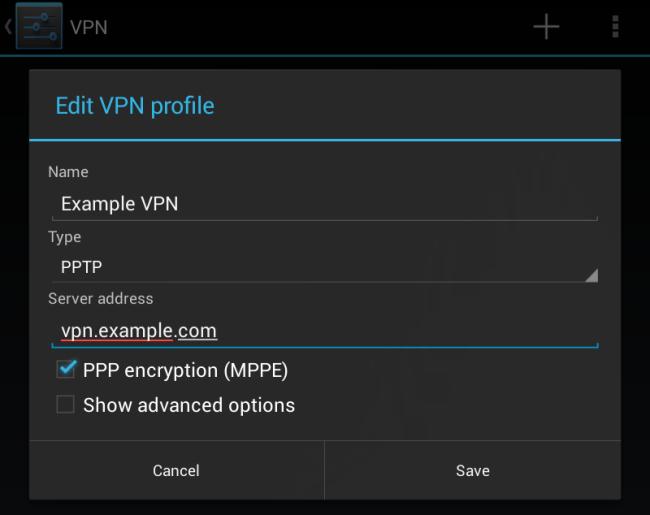 Настраиваем VPN на Android девайсах 3