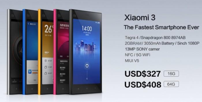 Xiaomi Mi3 - самый быстрый среди всех смартфонов