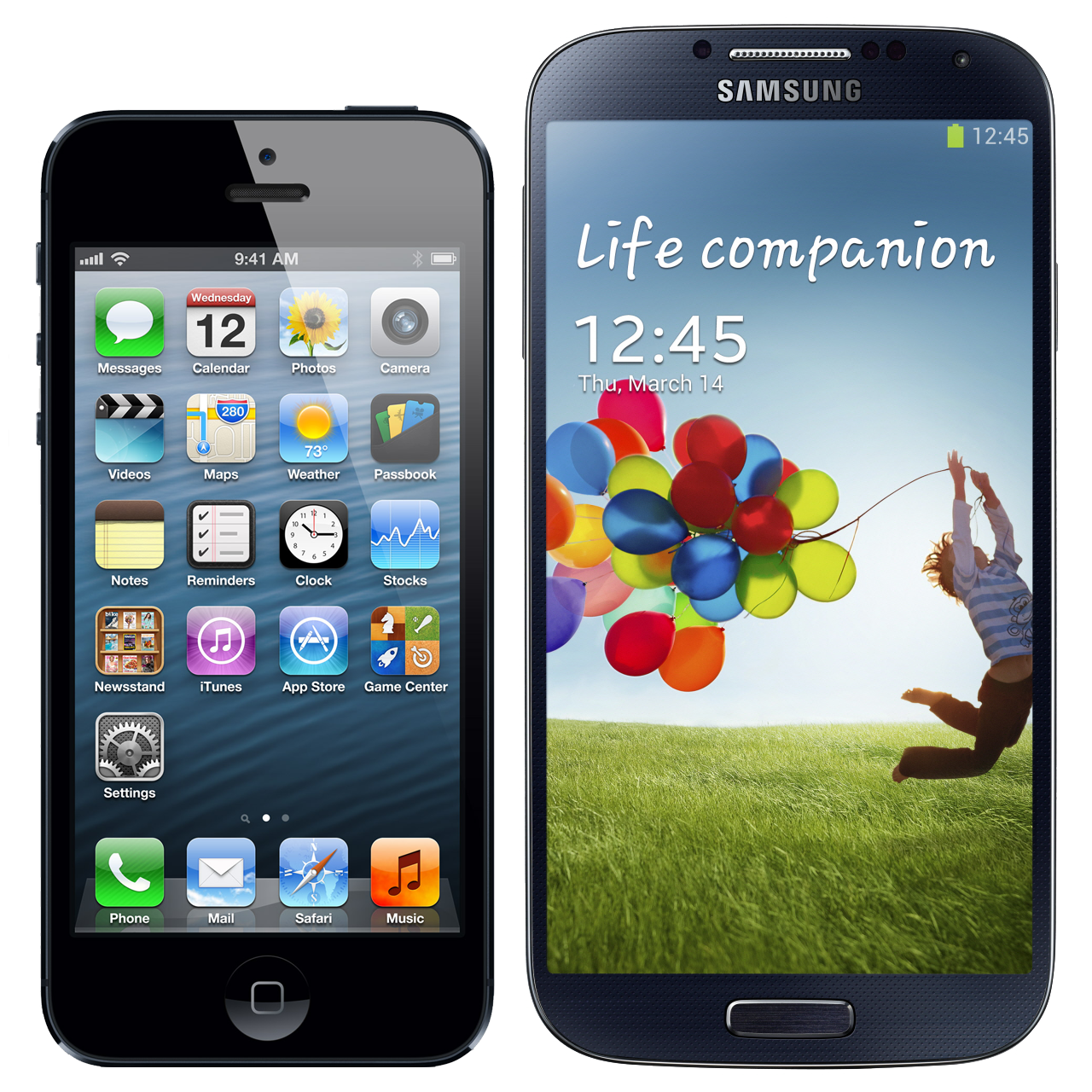 iPhone 5S vs Samsung Galaxy S4 - противостояние Android и iOS