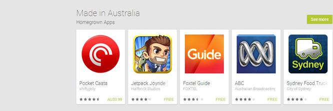В Google Play засветилась новая категория – Сделано в Австралии (Made in Australia)