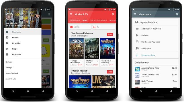 Material Design для Google Play