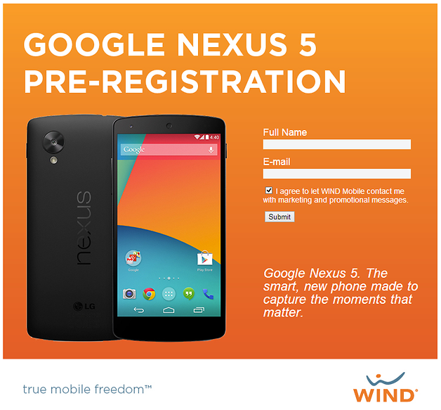 Nexus 5 WIND Mobile