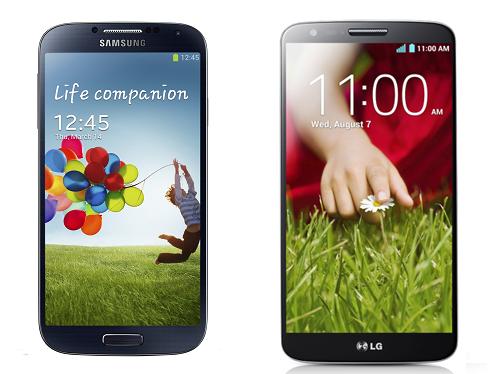 Samsung Galaxy S4 vs LG G2 - битва Android флагманов