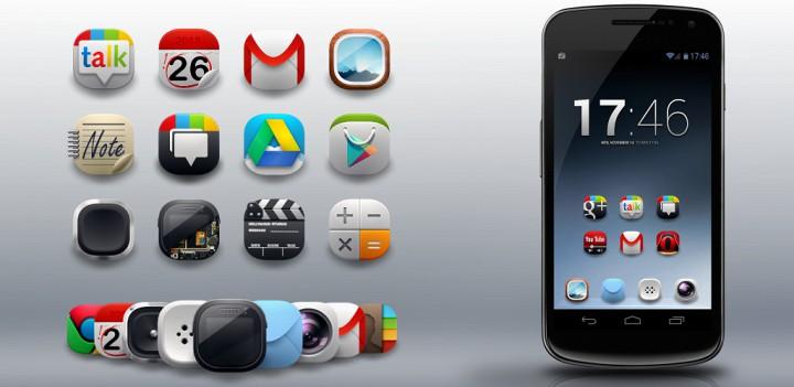 5 нестандартных пакетов иконок для Android лаунчеров