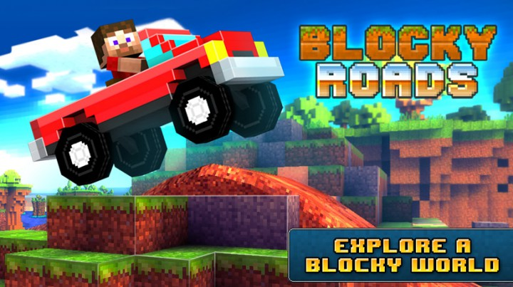 Blocky Roads - гонки в стиле Minecraft для Android