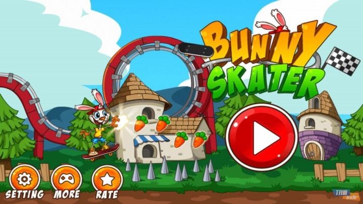 Bunny Skater – безумный кролик-скейтер атакует ваш Android