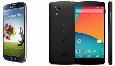 Nexus 5 vs Samsung Galaxy S4 - поединок Android тяжеловесов