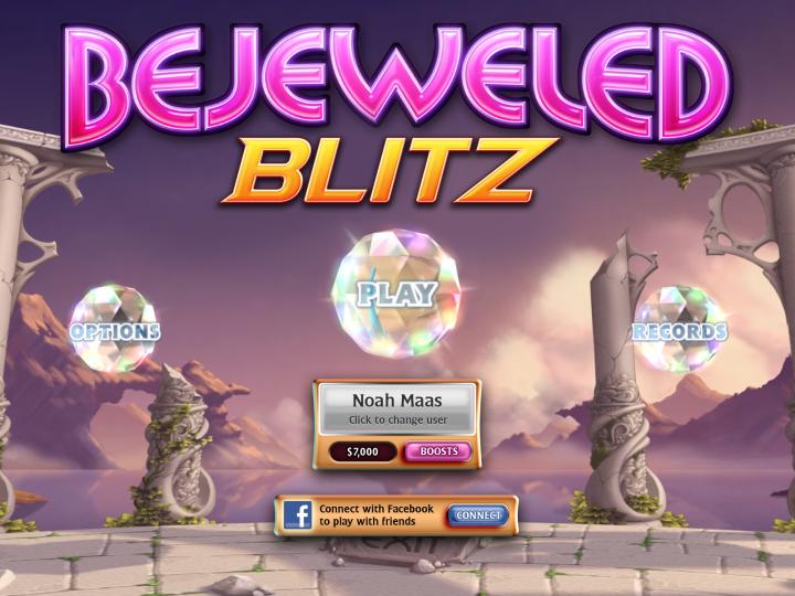 Bejeweled Blitz – три-в-ряд за одну минуту