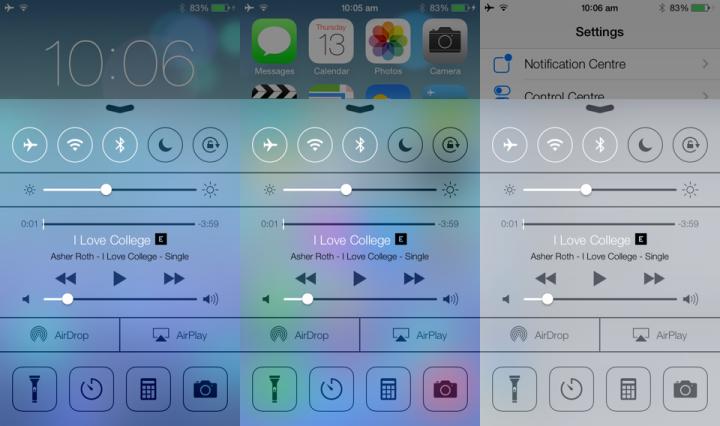 Ставим iOS 7 Control Center на любой Android девайс