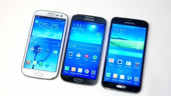 Samsung Galaxy S5 vs Galaxy S4 vs Galaxy S3