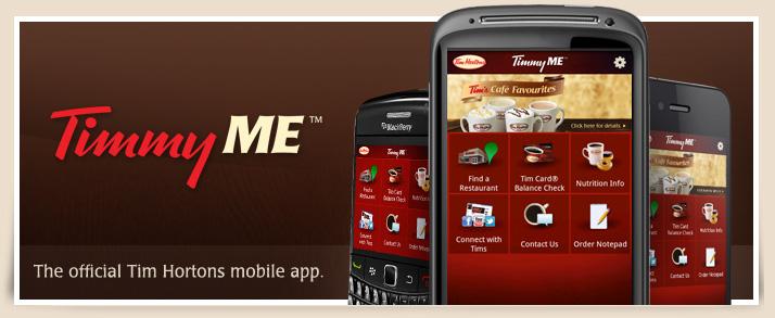 TimmyMe – мобильный платежный сервис от Tim Hortons