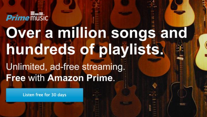 Amazon Prime Music – более 1 миллиона песен и сотни плейлистов