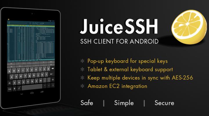 JuiceSSH – SSH клиент для Android