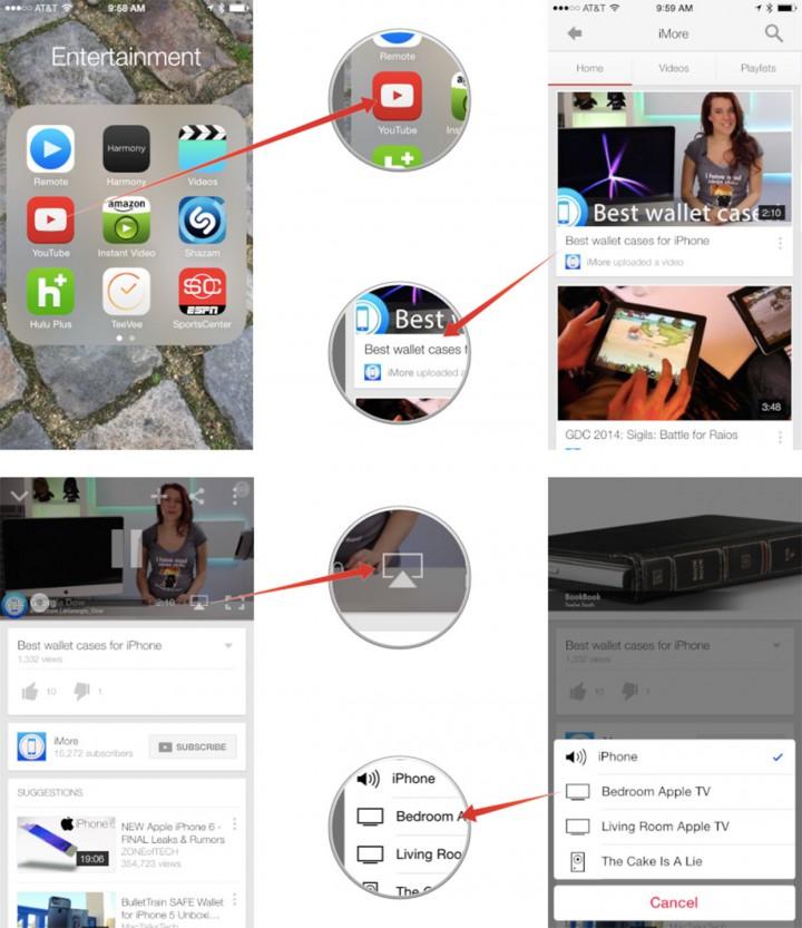 Транслируем видео с iPhone или iPad на Apple TV