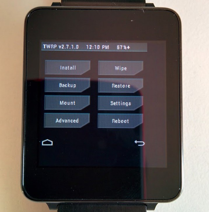 TWRP Recovery для смарт-часов на Android Wear