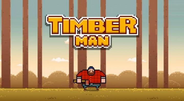 Timberman – суровая рутина лесоруба на Android и iOS