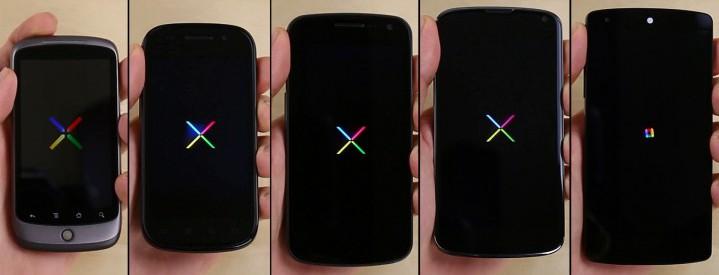 Эволюция Nexus смартфонов