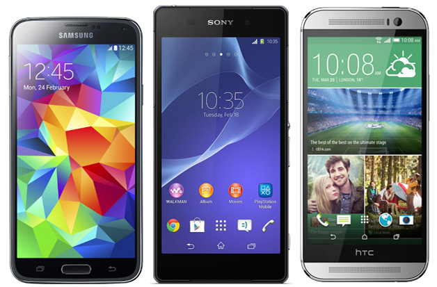 HTC One M8 vs Galaxy S5 vs Xperia Z2