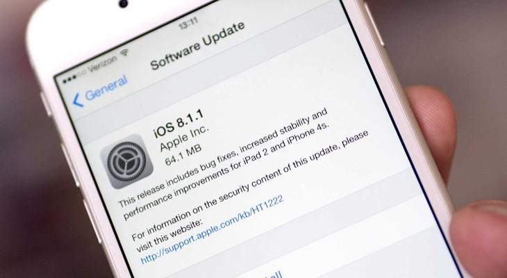 iOS 8 можно обновить до версии 8.1.1