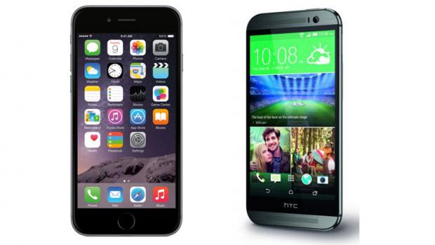 iPhone 6 против HTC One M8