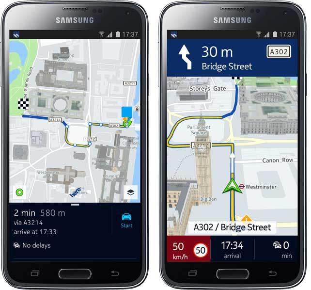 Приложение Nokia HERE Maps доступно для всех Android смартфонов