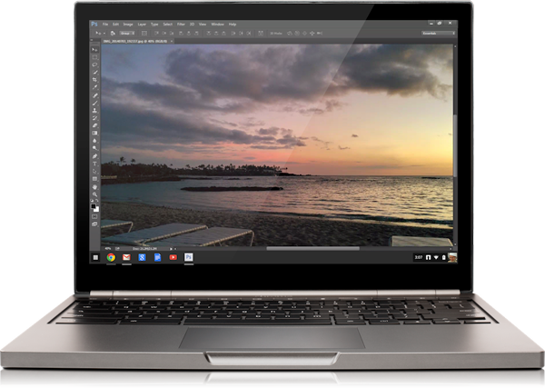 Project Photoshop Streaming – Creative Cloud для пользователей Chromebook