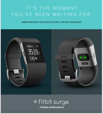 Фитнес-трекер Fitbit Surge доступен для ограниченного круга пользователей