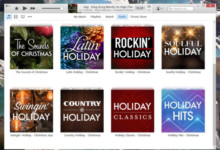 iTunes Radio дарит праздничное настроение