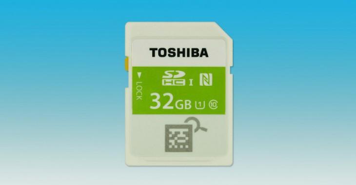 На CES 2015 Toshiba представила SDHC карту памяти со встроенным NFC чипом