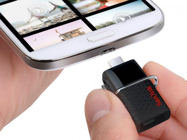 Новую USB 3.0 флешку от SanDisk можно подключать прямиком к Android смартфону