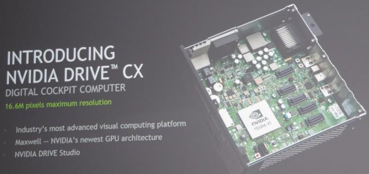 NVIDIA Drive CX – цифровая приборная панель нового поколения